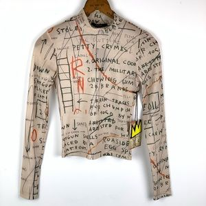 Jean-Michel Basquiat Mesh Nylon Shirt